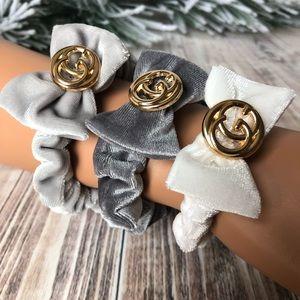 Set Of 3 Handmade Scrunchies Ponytail Holders